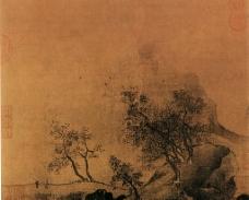 秋山烟霭图图片