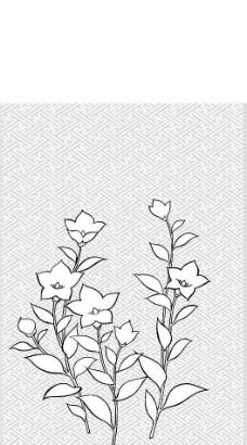 日本风格矢量植物以及部分动物素材图片