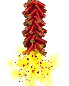 春节鞭炮素材图片