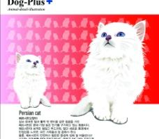 可爱动物卡通  猫图片