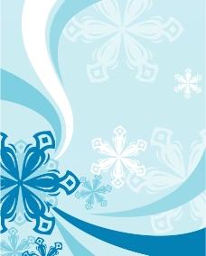 冬季花边图片
