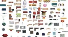 户型图家具矢量文件图片