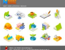 韩国风格AI精美(学习办公)矢量图标图片