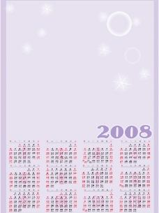 2008年年历图片