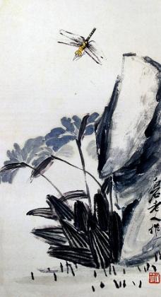 蜻蜓花卉图片