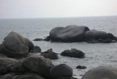 大海 奇异的石头 石头图片