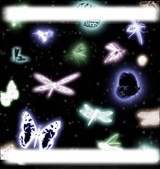 蝴蝶蜻蜓笔刷