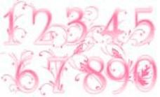 10个花纹数字笔刷