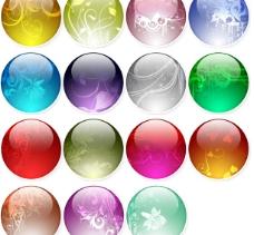 梦幻花纹水晶球图标图片