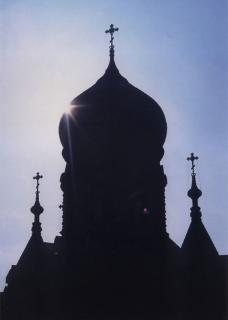 哈尔滨索非亚教堂剪影图片
