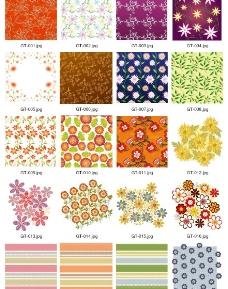 花卉花边花纹底纹矢量图片