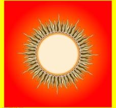 太阳花纹图片