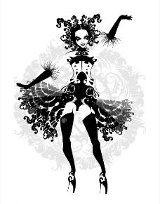 舞蹈女郎图片