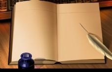 4915书桌上的书本元件独立