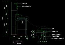 茶水台详图0023
