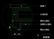 电梯间详图0044