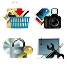 购物、相片、登录、维修等矢量图标素材图片