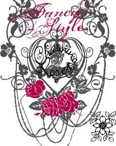 花和字母图案图片