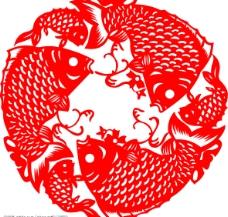 鱼纹窗花图片