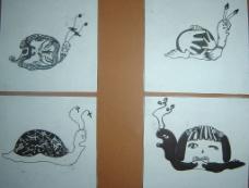 想象中的蜗牛图片