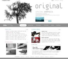PSD网站模板图片