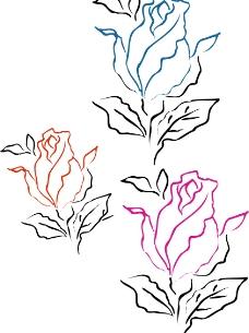 矢量花纹图片