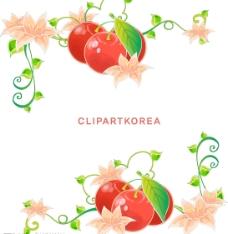 韩国失量花边图片