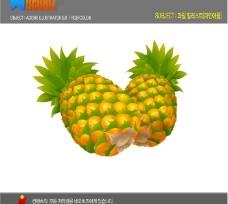 韩国矢量水果 菠萝图片