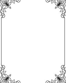边框类缎带横幅精致矢量花纹图片