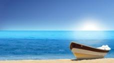 海边小船图片
