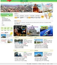 旅游网页模板图片