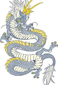 超酷中国龙矢量素材图片