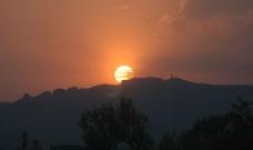 日落西山图片