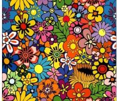 可爱的花花背景图片