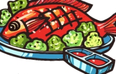 POP食物素材AI图片