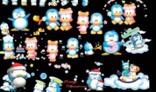 儿童模版素材小企鹅图片