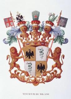 雙獅盾牌標圖片